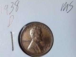 1938 D Wheat Penny