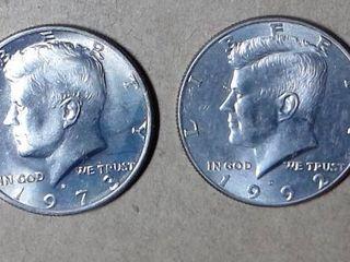 1973   1992 Kennedy Half Dollars