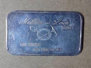 1 oz  Mother lode Mint  999 Fine Silver Bar