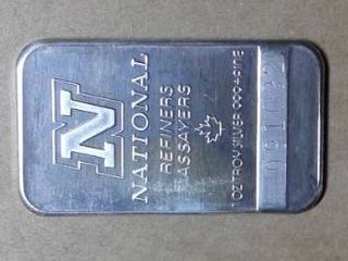 1 oz National Refiners Assayers  999 Fine Silver Bar
