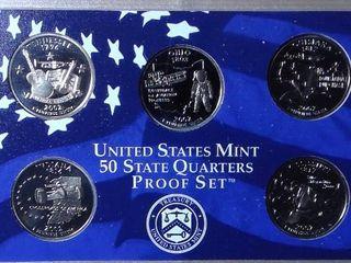 2002 Mint Proof Set   2002 US State Quarters