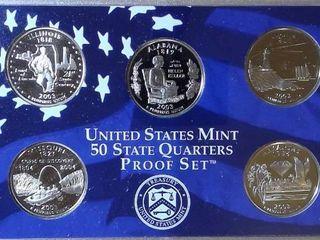 2003 Mint Proof Set   2003 US State Quarters