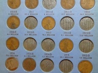 lincoln Head Cent Book  1909 1940  39 Pennies