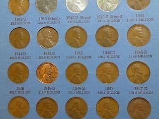 lincoln Head Cent Book 1941  up  81 Pennies  including MS Steel Wartime Pennies