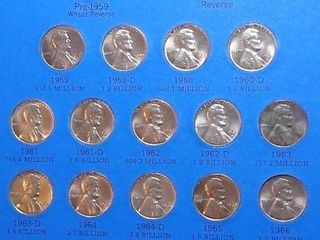 lincoln Head Cent Book  1959   up  68 Pennies