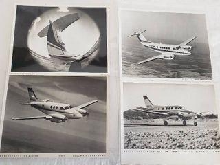 4  Original 8 x 10 Beech Aircraft Photos   Beechcraft King Air