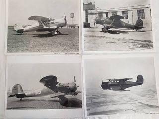 4  Original 8 x 10 Beech Aircraft Photos