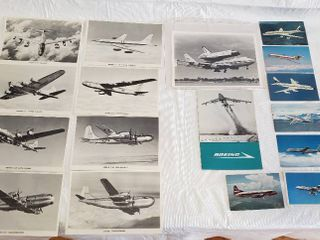 Assortment Of Airplane Pictures and Postcards