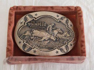Fredrick Remington Award Design Medals Brass Belt Buckle  New