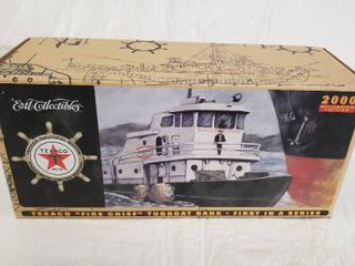 Ertl Coin Bank Texaco Fire Chief 1967 Tug Boat Ertl Die cast Collectibles 2000 New