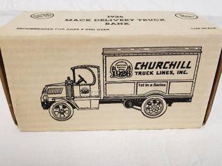 Ertl   1926 Mack Delivery Truck Bank   Die Cast Metal