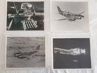 4  Original 8 x 10 Beech Aircraft Photos   U S  Army