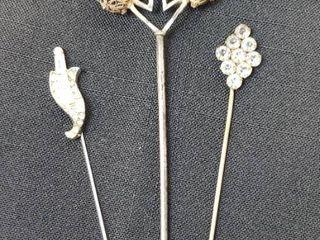 3 Vintage Hat Pins