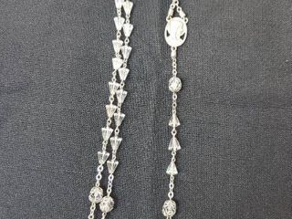 Vintage Sterling Silver with Cone Beads Rosary