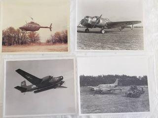 4  Original 8 x 10 Beech Aircraft Photos   Army