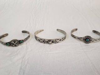 3  Navajo Bracelets