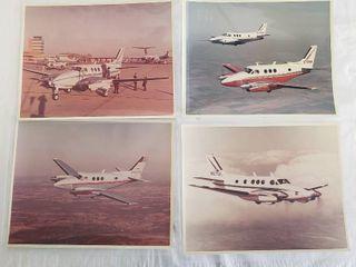 4  Original 8 x 10 Beech Aircraft Photos   Turbine Powered Executive