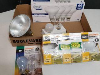 Assorted light bulbs and flood lights