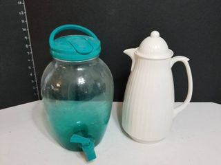 Insulated coffee pot and water dispenser