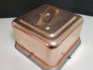 Mirror vintage cake container
