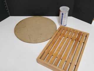 Pampered Chef stone and measuring cup  cooking rack