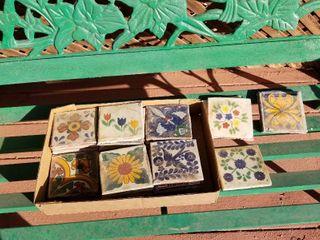 Painted Dutch tiles 33 pc