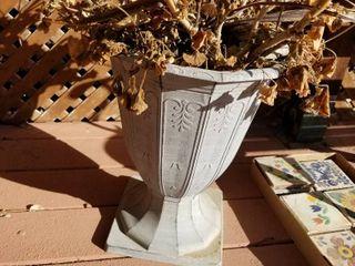 Decorative plastic pot 12  dia x 16