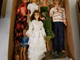 Vintage Barbies and Ken and assorted dolls