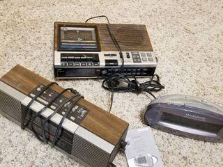 Assorted alarm clocks radios