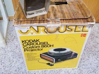 Kodak carousel projector and slide viewer