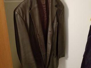 Mens leather jacket Xl