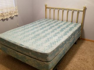 Full size brass bed and mattress