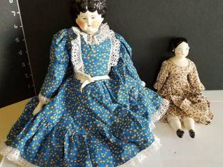 Porcelain dolls set of 2