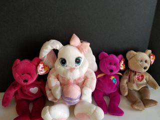 Beanie babies and rabbit