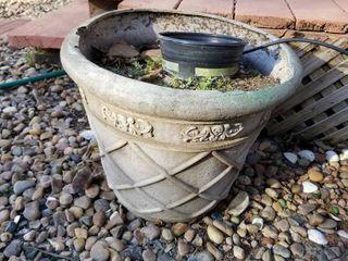 Decorative clay pot 16  dia x 14