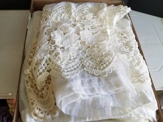 lace edge sheers  2 long and 1 short