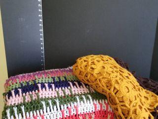 Crochet afgan throws large set of 2
