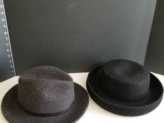 Womens Stetson felt hat large and Scala wool hat large