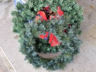 Wreaths one lighted
