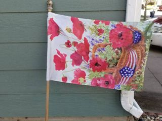 Garden flag and 4 additional flags