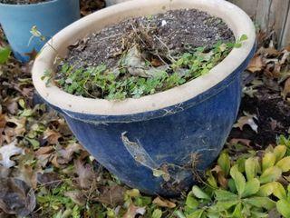 Decorative clay pot 14  dia x 12
