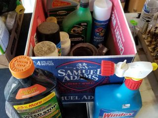 Garden chemicals and spray paint