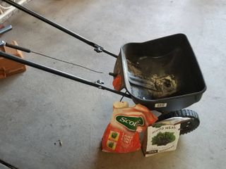 Scott s lawn spreader and chemicals