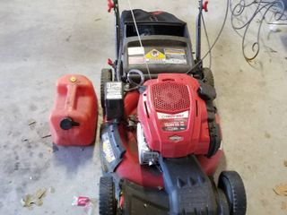 Troy Built easy start mulching mower with bagger