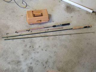 Fishing poles and tackle box