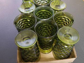 Green drinking glasses