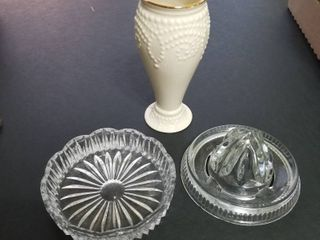 lenox vase 5  juicer and coaster