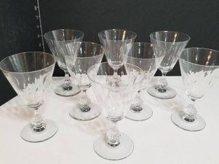 Etched crystal set of 8