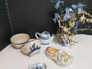 Assorted Blue Delft and Dutch pieces