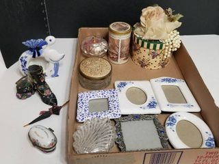 Assorted picture frames and decor